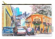 Colorful Buildings And Old Cars In Havana - V3 Carry-all Pouch