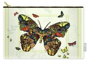 Colorful Butterfly Collage Carry-all Pouch