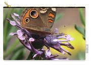 Colorful Butterfly On Daisy Carry-all Pouch