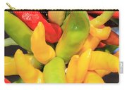 Colorful Chili Peppers  Carry-all Pouch