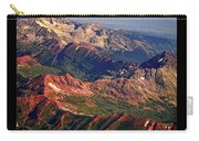 Colorful Colorado Rocky Mountains Planet Art Poster  Carry-all Pouch
