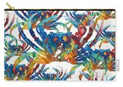 Colorful Crab Collage Art By Sharon Cummings Carry-all Pouch