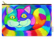 Colorful Crazy Cat Carry-all Pouch