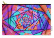 Colorful Cuts Fractal Carry-all Pouch