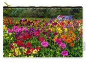 Colorful Dahlias In Garden Carry-all Pouch