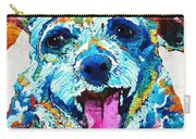 Colorful Dog Art - Smile - By Sharon Cummings Carry-all Pouch