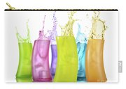 Colorful Drink Splashing From Glasses Carry-all Pouch