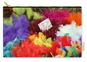 Colorful Easter Feathers Carry-all Pouch