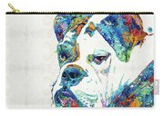 Colorful English Bulldog Art By Sharon Cummings Carry-all Pouch