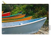 Colorful Fishing Boats On A Rocky Shore  Grand Manan Carry-all Pouch