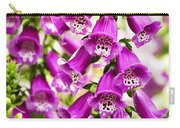 Colorful Foxglove Flowers Carry-all Pouch