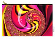 Colorful Fractal Spiral Red Yellow Pink Carry-all Pouch