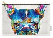 Colorful French Bulldog Dog Art By Sharon Cummings Carry-all Pouch