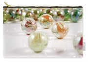 Colorful Glass Marbles Close-up Views Carry-all Pouch