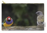 Colorful Guilian Finch And The Plain Bird Carry-all Pouch