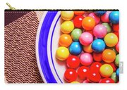 Colorful Gumballs On Plate Carry-all Pouch