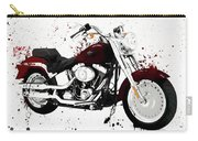 Colorful Harley Davidson Paint Splatter Carry-all Pouch