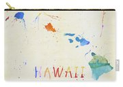 Colorful Hawaii Map Carry-all Pouch