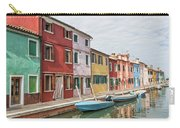 Colorful Houses On The Island Of Burano Carry-all Pouch
