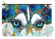 Colorful Husky Dog Art By Sharon Cummings Carry-all Pouch