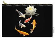 Colorful Koi With Water Lily Carry-all Pouch