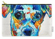 Colorful Little Dog Pop Art By Sharon Cummings Carry-all Pouch