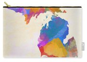 Colorful Michigan Carry-all Pouch