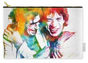 Colorful Mick And Keith Carry-all Pouch