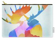 Colorful Moose Head Carry-all Pouch