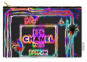 Colorful Neon Chanel Five  Carry-all Pouch