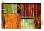 Colorful Old Barn Wood Carry-all Pouch