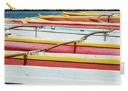 Colorful Outrigger Canoes Carry-all Pouch