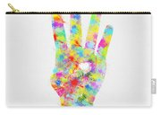 Colorful Painting Of Hand Pointing Four Finger Carry-all Pouch