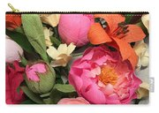 Colorful Paper Flower Blossoms  Carry-all Pouch