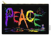 Colorful Peace Cat Carry-all Pouch