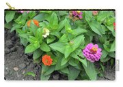 Colorful Pink And Orange Flowers In Green Leaves Bush In The Garden. Carry-all Pouch