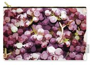 Colorful Pink Tasty Grapes In The Basket Carry-all Pouch