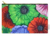 Colorful Poppy Lime Carry-all Pouch