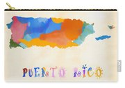 Colorful Puerto Rico Map Carry-all Pouch