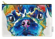 Colorful Pug Art - Smug Pug - By Sharon Cummings Carry-all Pouch