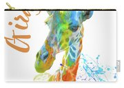 Colorful Safari Animals D Carry-all Pouch