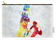 Colorful Saxophone Carry-all Pouch