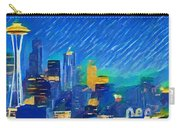 Colorful Seattle Skyline Panorama Carry-all Pouch
