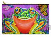 Colorful Smiling Frog-voodoo Frog Carry-all Pouch