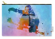 Colorful Snowboarder Paint Splatter Carry-all Pouch