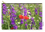 Colorful Spring Wild Flowers Carry-all Pouch