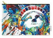 Colorful Statue Of Liberty - Sharon Cummings Carry-all Pouch