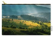 Colorful Summer Landscape In The Carpathian Mountains. Ukraine,  Carry-all Pouch