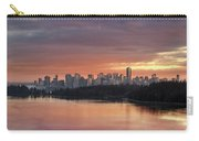 Colorful Sunset Over Vancouver Bc Downtown Skyline Carry-all Pouch