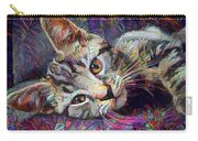 Colorful Tabby Kitten Carry-all Pouch